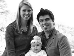 Justin, Jennifer and Selah Perry, Pastor Family, First Baptist Church Viburnum